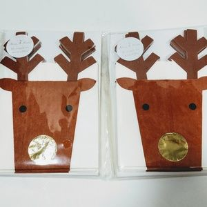 Meri Meri Christmas Reindeer Die Cut Napkins 32 ct